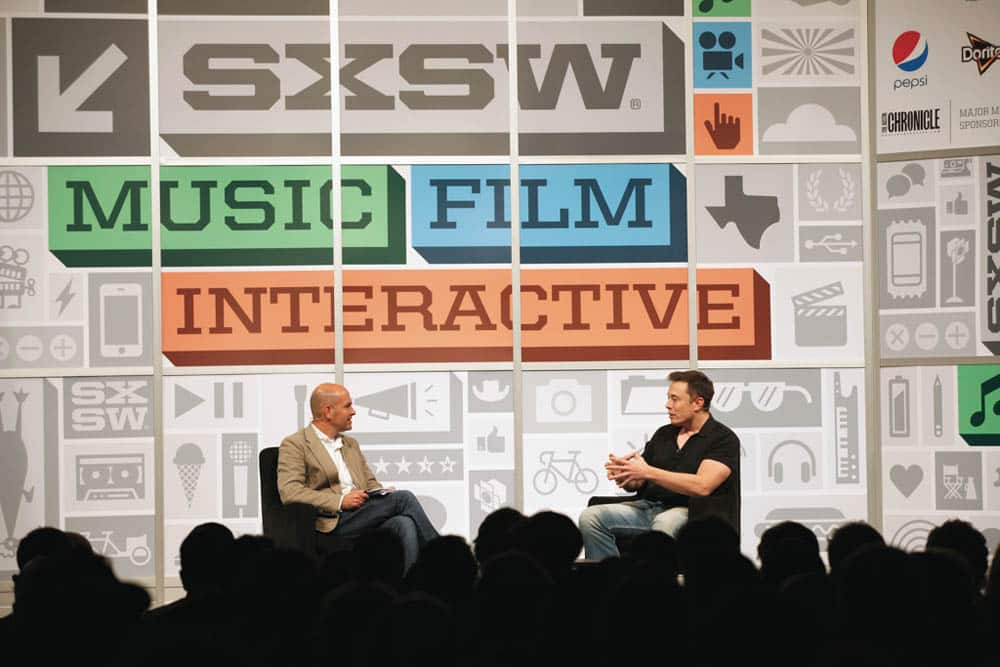 Elon Musk being interviewed at SXSW Interactive 2013