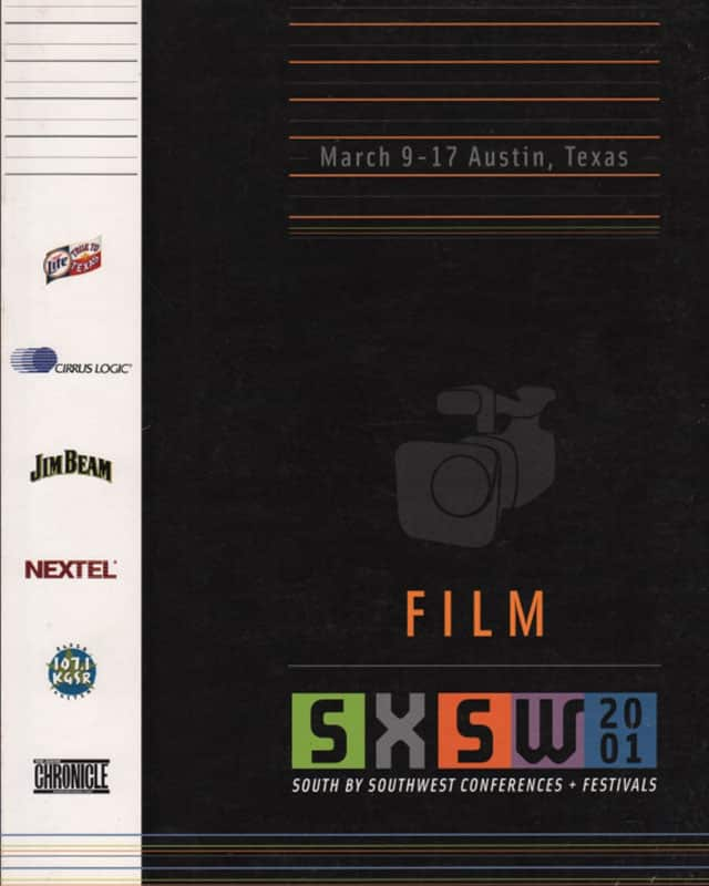 South By Southwest Film Festival Poster from 2001