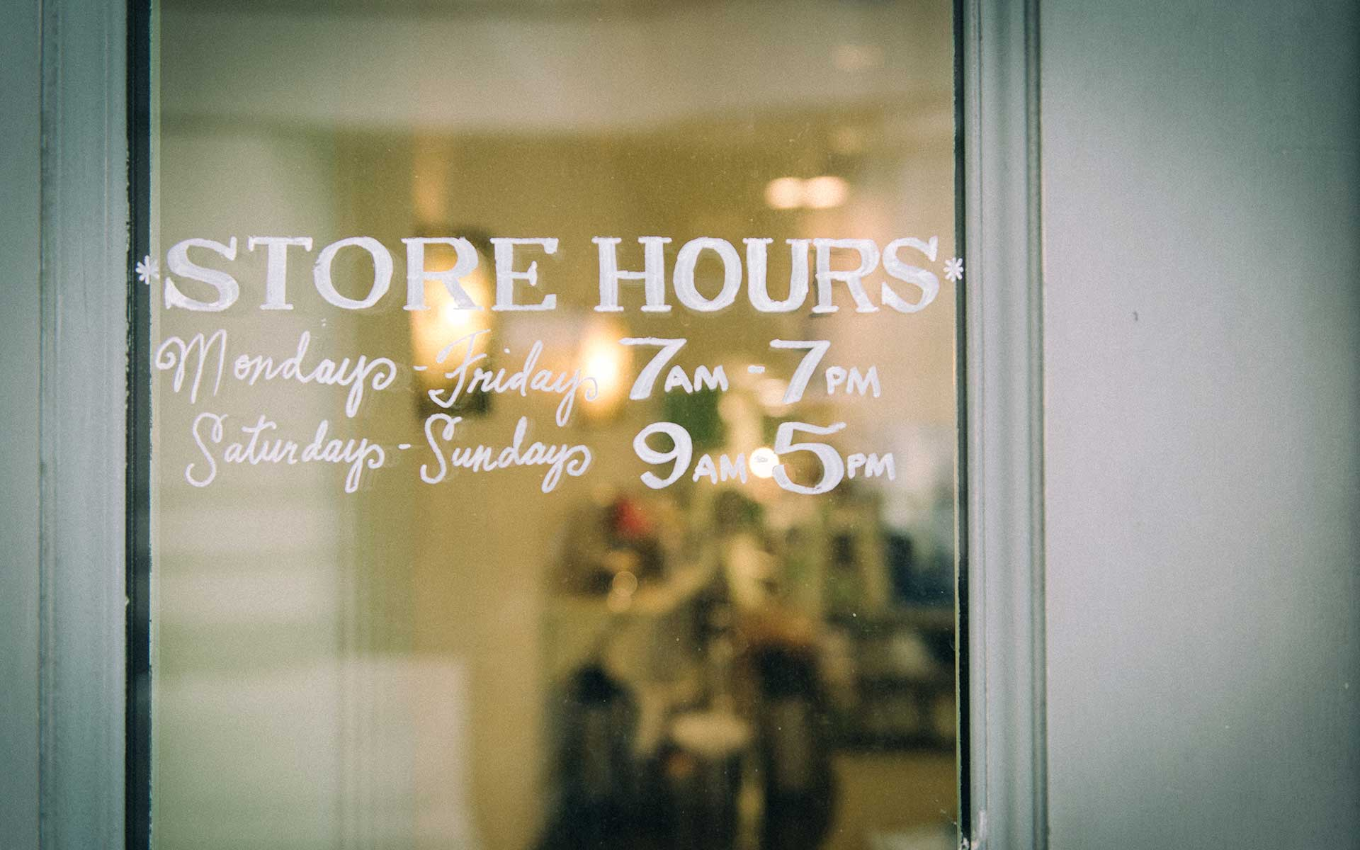 Keeping online store hours accurate